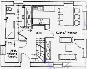 erdgeschoß - Moderne Wohnzimmer Mit Offener Kuche